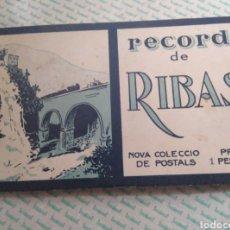Postales: BLOC DE 10 POSTALS B/N RECORD DE RIBAS DE FRESSER. Lote 154502430