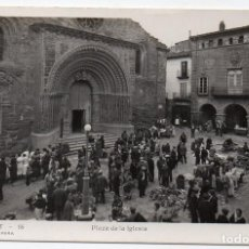 Postales: PS8080 AGRAMUNT 'PLAZA DE LA IGLESIA'. FOTOGRÁFICA. LIB. PERA. CIRCULADA. 1944. Lote 154800606