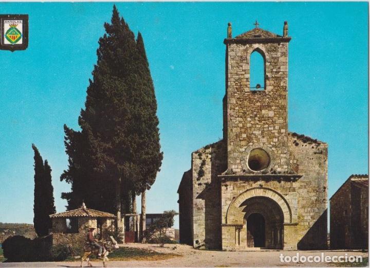 BANYOLES, ESGLESIA ROMÀNICA DE PORQUERAS - ESCUDO DE ORO Nº 2750 - EDITADA EN 1967 - S/C (Postales - España - Cataluña Moderna (desde 1940))