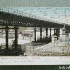 Postales: POSTAL BARCELONA-PARQUE: VIADUCTO DE LA SECCION MARITIMA. Lote 155432214