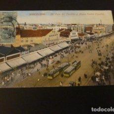 Postales: BARCELONA VISTAL DEL PARALELO Y NUEVO TEATRO ESPAÑOL. Lote 155465518