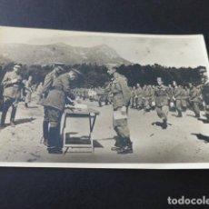 Postales: SANTA FE DEL MONTSENY BARCELONA 1947 MILITARES ENTREGA DE DESPACHOS A UN ALFEREZ POSTAL FOTOGRAFICA. Lote 155504642