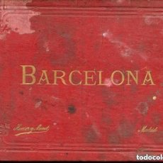 Postales: BARCELONA-ALBÚM DE 24 VISTAS EN FOTOTÍPIA- HAUSER Y MENET- 22 X 15- RARO. Lote 155549438