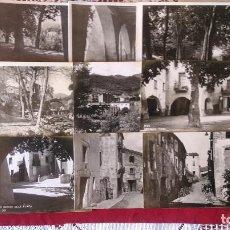 Postales: AB-204.- LOTE DE - 9 - POSTALES FOTOGRAFICAS DE --ARBUCIAS-- DIFERENTES LUGARES DE LA POBLACION . Lote 155564306
