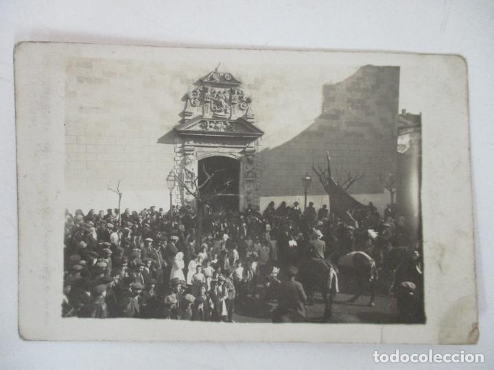 ANTIGUA FOTOGRAFÍA POSTAL - CARDEDEU - VISTAS - CIRCULADA - CUÑO DE BAÑOLAS (BANYOLES) - AÑO 1914 (Postcards - Spain - Old Catalonia (until 1939))