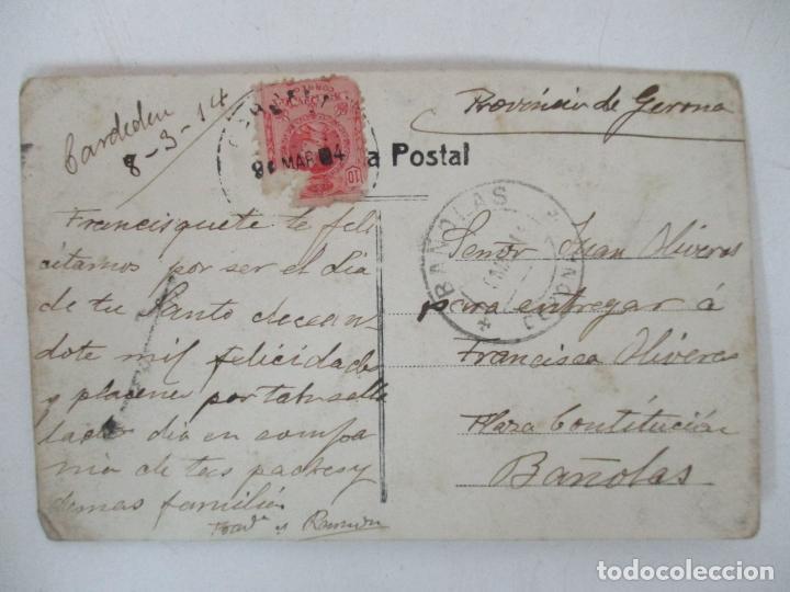 Postcards: Antigua Fotografía Postal - Cardedeu - Vistas - Circulada - Cuño de Bañolas (Banyoles) - Año 1914 - Foto 2 - 155735066