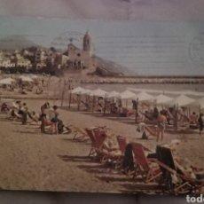 Postales: POSTAL ANTIGUA PLAYA SITGES. Lote 156001810