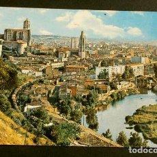 Postales: GIRONA (GIRONA) VISTA GENERAL, CATEDRAL - CIRCULADA - ED. CARRERA - CATALUNYA SANT HILARI. Lote 156002366