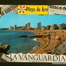 Postales: PLAYA DE ARO (GIRONA) VISTA GENERAL - CIRCULADA - ED. ESCUDO ORO - PLATJA D'ARO -COSTA BRAVA . Lote 156004650