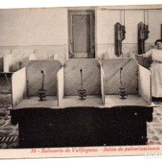 Postales: PS8164 BALNEARIO DE VALLFOGONA 'SALÓN DE PULVERIZACIONES'. L. ROISIN. SIN CIRCULAR. PRINC. S. XX. Lote 156069350