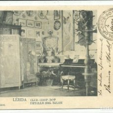 Postales: (PS-59857)POSTAL DE LERIDA-CLUB-CHOP-BOT.DETALLE DEL SALON. Lote 156171066