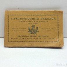 Postales: BERGA - L,EXCURSIONISTA BERGADA - ALBUM GRAFIC DE POSTALS - EDICIO JAUME HUCH - POSTAL DE LA 25 A 48. Lote 156456962