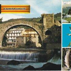 Postales: CAMPRODON, PONT ROMANIC, GERONA. Lote 156560206