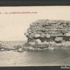 Postales: SAN MARTIN DE AMPURIAS-MUELLE-ATV 1811-POSTAL ANTIGUA-(57.958). Lote 157055358