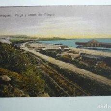 Postales: POSTAL TARRAGONA .-ESCRITA PLAYA Y BAÑOS DEL MILAGRO BB. Lote 158339774
