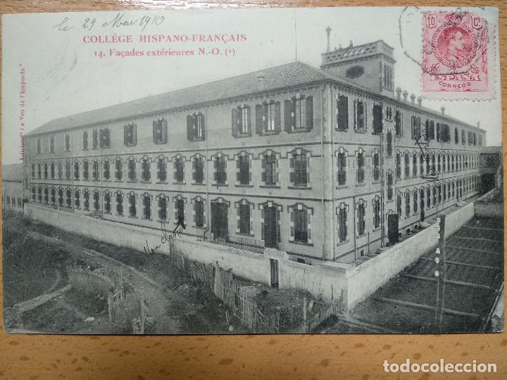 COLEGIO HISPANO FRANCÉS. FIGUERAS (GIRONA). FACHADAS EXTERIORES N.-O. (Postales - España - Cataluña Antigua (hasta 1939))