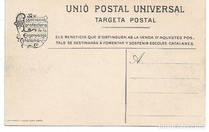 Postales: HOSTALRICH Nº 301 PASSERA SOBRE'L RIU TORDERA .- CLIXE LLORENS .- ENSENYANSA CATALANA - Foto 2 - 158982818