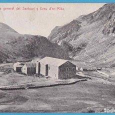 Postales: NURIA. VISTA GENERAL DEL SANTUARI Y CREU D'EN RIBA. THOMAS, 1928. Lote 159213342