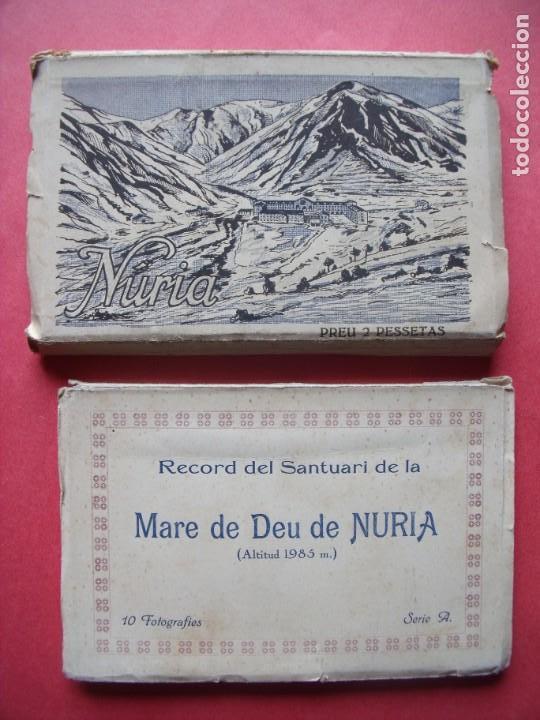 NURIA.-GERONA.-L. ROISIN.-RECORD DEL SANTUARI DE LA MARE DE DEU DE NURIA.-GUILERA.-BLOC DE POSTALES. (Postales - España - Cataluña Antigua (hasta 1939))