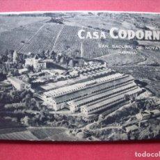 Postales: CASA CODORNIU.-SAN SADURNI DE NOYA.-BARCELONA.-BLOC CON 10 POSTALES.-AÑO 1960.. Lote 160570946