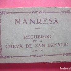 Postales: MANRESA.-RECUERDO DE LA CUEVA DE SAN IGNACIO.-A.M.D.G.-MUMBRU.-BARCELONA.-BLOC CON 26 POSTALES.. Lote 160724582