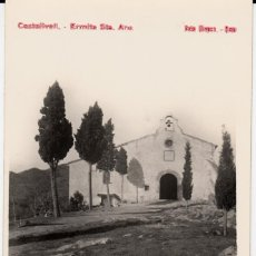 Postales: POSTAL FOTOGRAFICA CASTELLVELL - ERMITA DE STA. ANA -FOTO NIEPCE - REUS -TARRAGONA . Lote 160862574