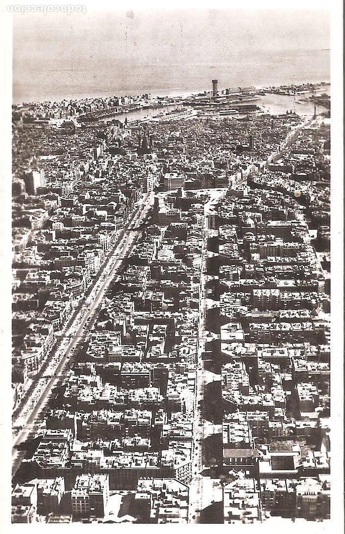 PASEO DE GRACIA - RAMBLA CATALUÑA - 7 - BARCELONA DESDE EL AIRE- ZERKOWITZ (Postales - España - Cataluña Moderna (desde 1940))