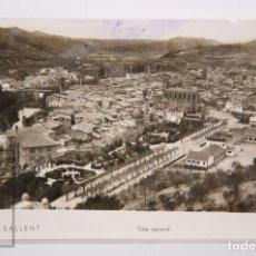 Postales: ANTIGUA POSTAL FOTOGRÁFICA - 1. SALLENT. VISTA GENERAL - MECANOGRAFIADA, AÑO 1937 / GUERRA CIVIL. Lote 161248274