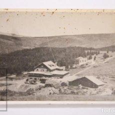 Postales: ANTIGUA POSTAL FOTOGRÁFICA - ESTACION DE ESQUÍ SUPER-MOLINA. HOTEL SOLINEU - CIRCULADA, 1949. Lote 161250842