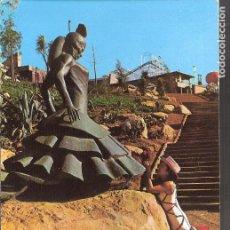 Postales: MONUMENTO A CARMEN AMAYA. ESCULTOR, J. CAÑAS.PARQUE ATRACCIONES MOTJUICH. BARCELONA.. Lote 161276014