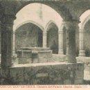 Postales: MONASTERIO DE SANTES CREUS, CLAUSTRO DEL PALACIO ABACIAL, EDITOR: THOMAS Nº 496. Lote 161278166