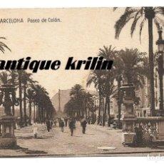 Postales: BARCELONA .- PASEO COLON .- EDICION ALMACENES ALEMANES . Lote 161432886