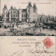 Postales: POSTAL 59 BARCELONA PUERTO Y DESPACHO DE EQUIPAJES . Lote 161831058