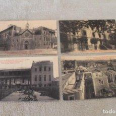 Postales: LOTE 4 POSTALES SUCESOS DE BARCELONA (26-31 DE JULIO DE 1909) SIN CIRCULAR. Lote 161887014