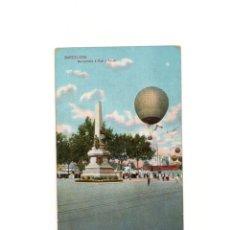 Postales: BARCELONA.- MONUMENTO A RIUS Y TAULET. (GLOBO AEROSTATICO).. Lote 162361538