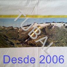 Postales: TUBAL POSTAL GIGANTE PIRINEO DE LERIDA 61 CM. Lote 162413098