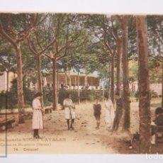 Postales: ANTIGUA POSTAL ANIMADA - GRAN BALNEARIO VICHY CATALÁN. CALDAS DE MALAVELLA. 14. CROQUET - AÑO 1922. Lote 162588742