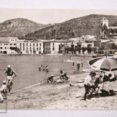 Postales: POSTAL FOTOGRÁFICA - PORT DE LA SELVA. COSTA BRAVA, 10378. ASPECTO DE LA PLAYA - A. ZERKOWITZ. Lote 162677742
