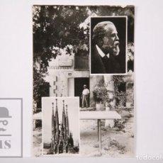 Postales: POSTAL FOTOGRÁFICA - Nº 20, RIUDOMS. GAUDÍ, CASA NATAL Y LA SAGRADA FAMILIA - ED. CASA GISPERT. Lote 162684778