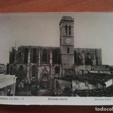 Postales: 1946 ENTRADA LATERAL LA SEO - MANRESA. Lote 162781286