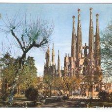 Cartes Postales: 1 POSTAL AÑOS 70 - BARCELONA - TEMPLO SAGRADA FAMILIA - VER FOTO DE REVERSO. Lote 162847110