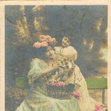 Postales: POSTAL ROMANTICA, HERMANAS QUERIDAS, POEMA, CIRCULADA EN 1903, VER EL DORSO. Lote 163578994