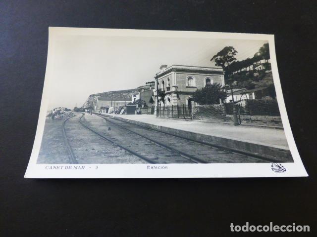 CANET DE MAR BARCELONA ESTACION DEL FERROCARRIL ED. ORIOL (Postales - España - Cataluña Antigua (hasta 1939))