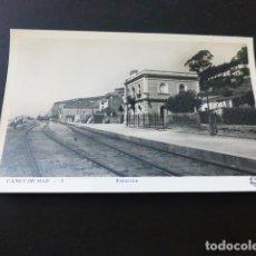 Postales: CANET DE MAR BARCELONA ESTACION DEL FERROCARRIL ED. ORIOL. Lote 163731690