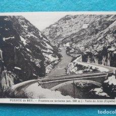 Postales: PUENTE DEL REY. FRONTERA EN INVIERNO. VALLE DE ARÁN.. Lote 163747174