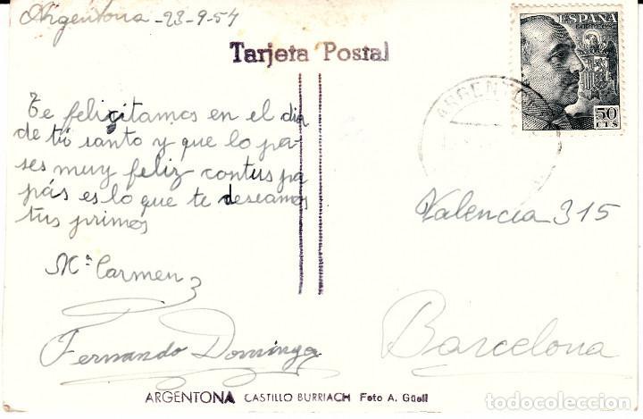 Postales: POSTAL FOTOGRAFICA ARGENTONA - CASTILLO BURRIACH FOTO A. GUELL - ESCRITA Y CIRCULADA - Foto 2 - 163750802