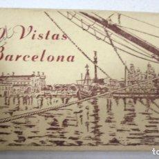 Postales: BLOCK DE 10 POSTALES. VISTAS DE BARCELONA. EDITORIAL FISA. VER POSTALES. Lote 163860590