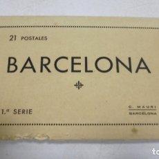 Postales: BLOCK DE 21 POSTALES. BARCELONA. 1º SERIE. C.MAURI. VER POSTALES. Lote 163884222