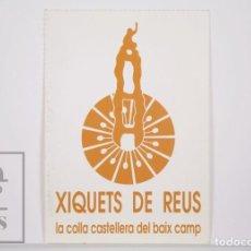 Postales: POSTAL CASTELLERS - XIQUETS DE REUS. LA COLLA CASTELLERA DEL BAIX CAMP - EMBLEMA. Lote 164520106