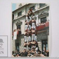 Postales: POSTAL CASTELLERS - XIQUETS DE REUS. LA COLLA CASTELLERA DEL BAIX CAMP - CINC DE SET. Lote 164522302